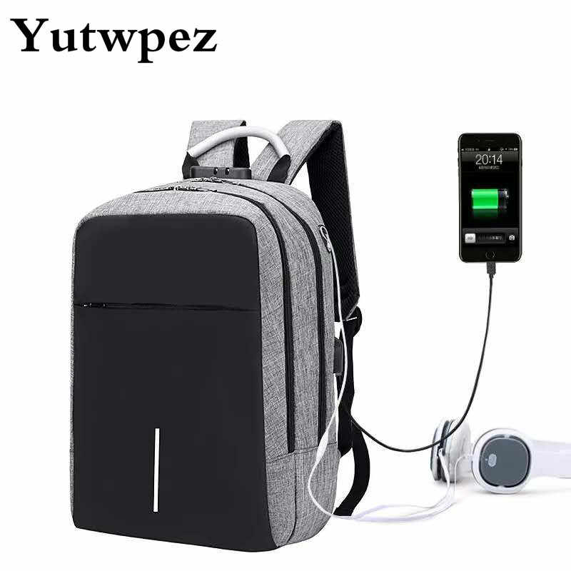 USB Anti-Theft Laptop Anti Theft Backpack Male Antitheft With Charging For Teenager Man School Bag Schoolbag Back Pack Bagpack