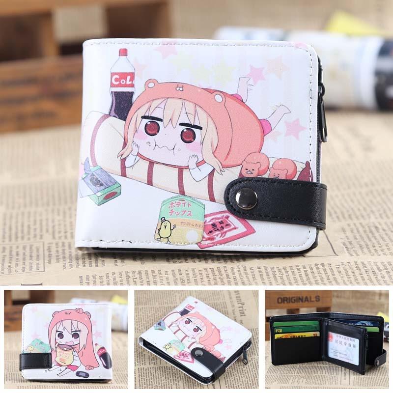 Anime Himouto! Umaru-chan Doma Umaru PU Short Zero Wallet/Coin Purse/Multilayer Double-button Wallet