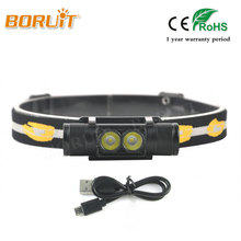 BORUIT Brand 1000LM Black Head Lamp XP-G2 LED Headlight Mini Head Flashlight Outdoor Sports Headlamp Camping Fishing For Hunting
