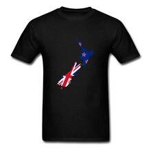 94c9cf178c1 Простой Стиль короткий рукав флаг карта Новой Зеландии футболки дешевые  мужские цена с круглым вырезом Shirtdonald