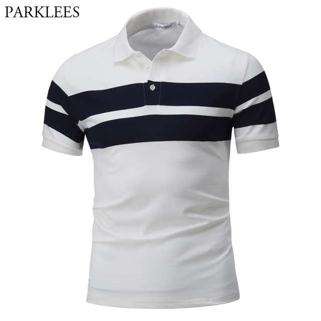 f563d62dc Men's Classic Striped Short Sleeve Polo Shirt 2018 Brand New Cotton Polos  Shirts Men Casual Slim Fit Camisa Polo Masculina XXXL