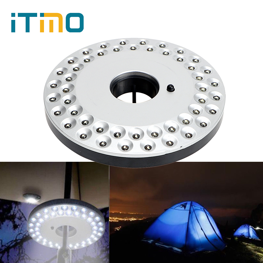 ITimo Patio Umbrella Light 48 LEDs Magnetic Night Lamp 3 Modes Portable Camping Lantern For Yard Garden Tent Outdoor Lighting