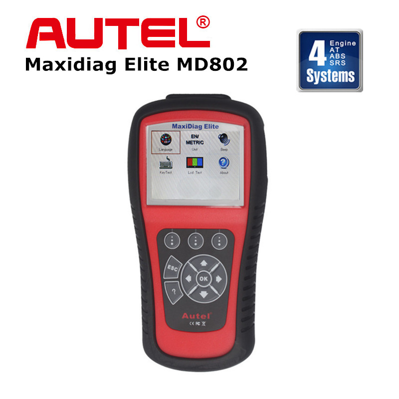 Original Autel Maxidiag Elite MD802 Scanner for 4 Systems  with Data Stream (MD701+MD702+MD703+MD704) Update Online DHL Free