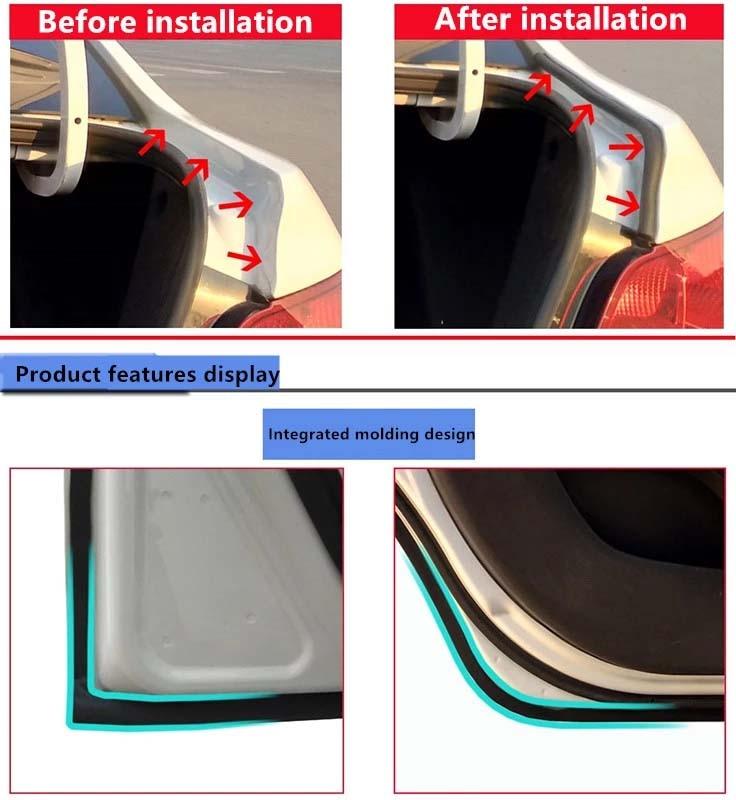 isolamento acústico adaptados com modificado tira de vedação de borracha
