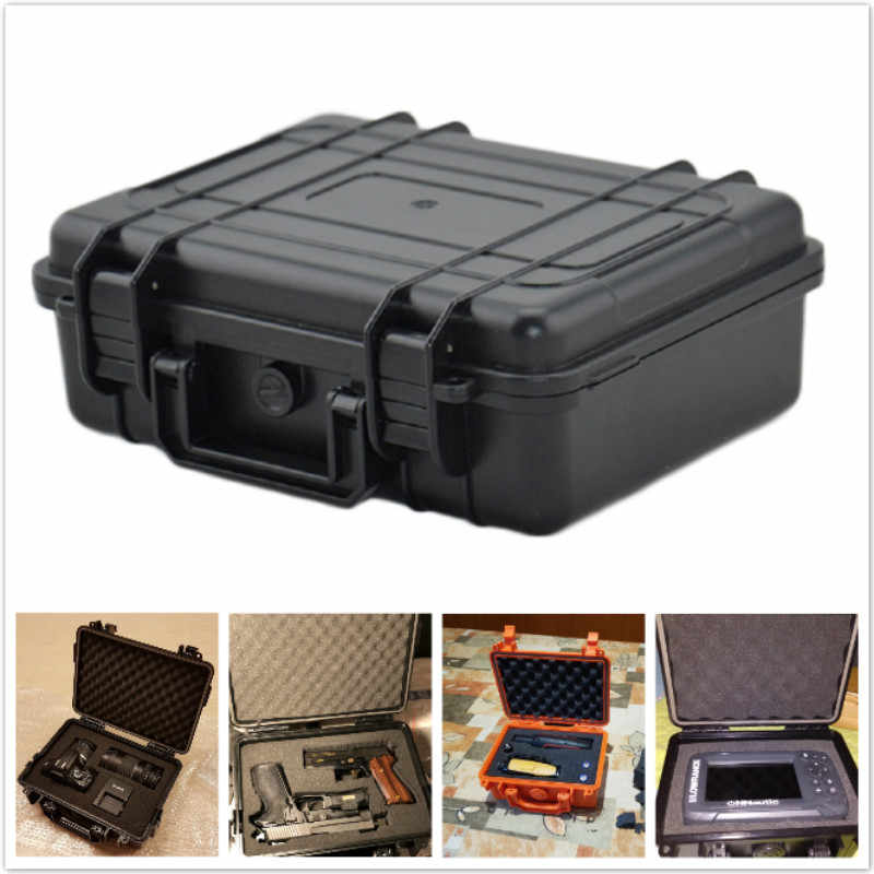 Outdoor Waterproof Dry Box Portable Shockproof Sealed Safety Case ABS Plastic Tool Box Safety Equipment Instrument Storage Box