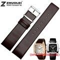 Relógios acessórios de couro de moda hot leather watch band 22 mm leather watch strap substituto ck pulseiras de relógio