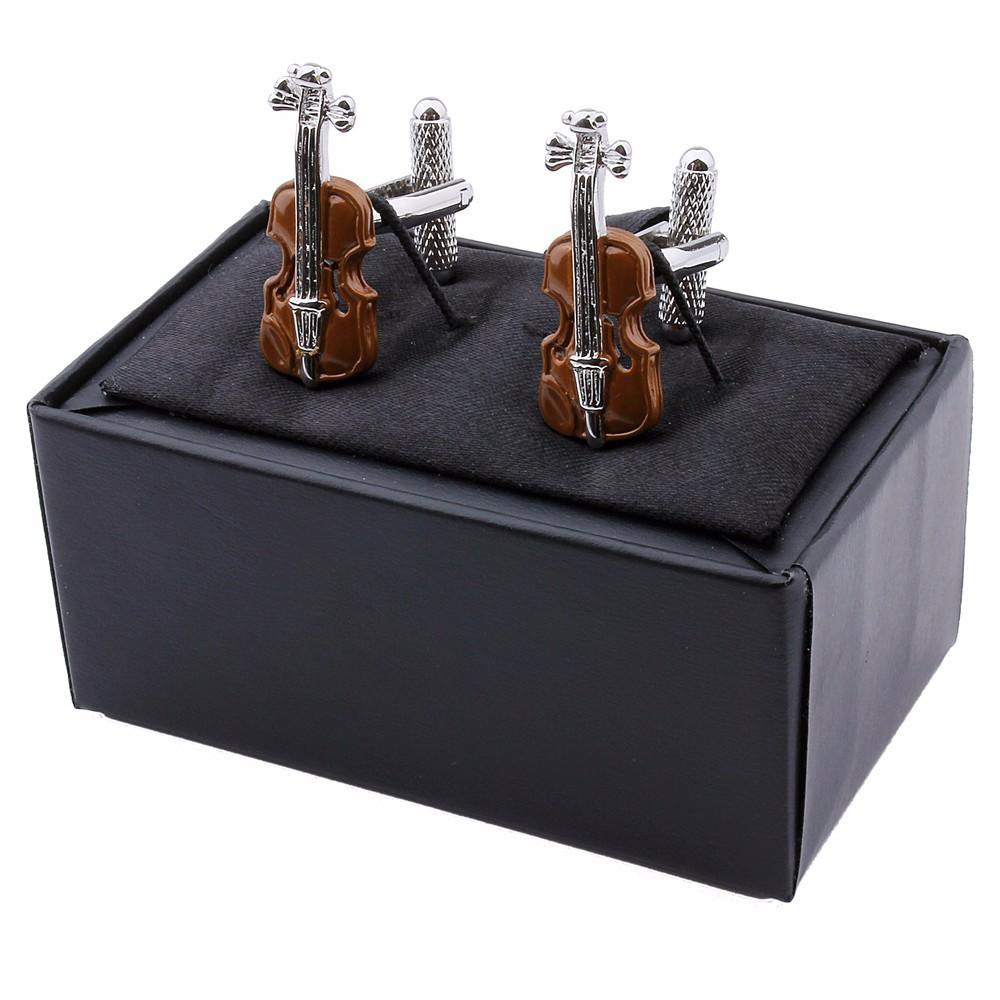 violin cufflinks