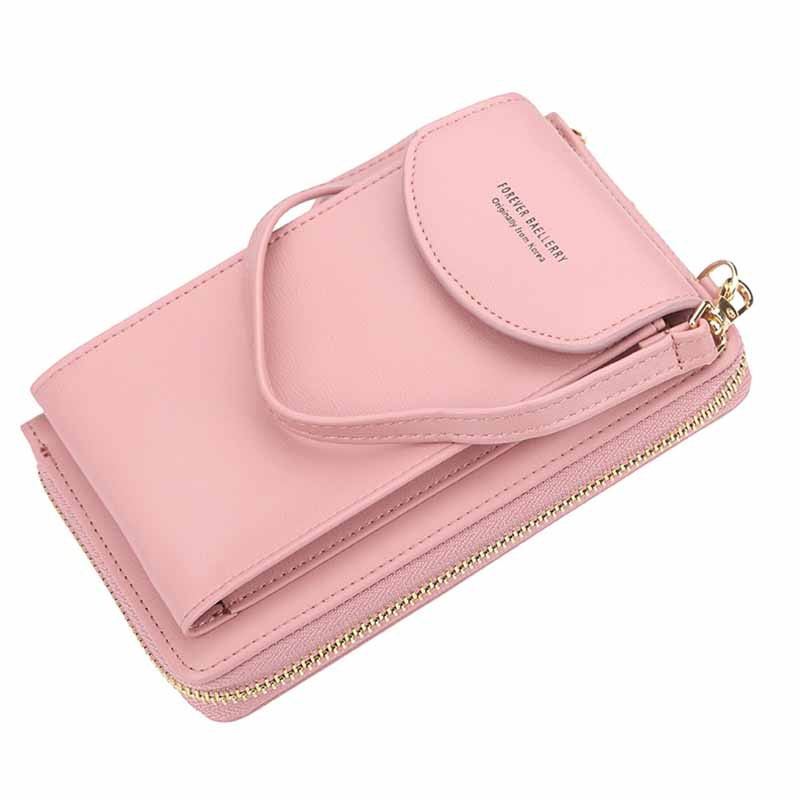 Fashion Women Girls Ladies Mobile Phone Wallets PU Leather Lovely Purse for Female Credit Card Shoulder Bags Mini Messenger LB