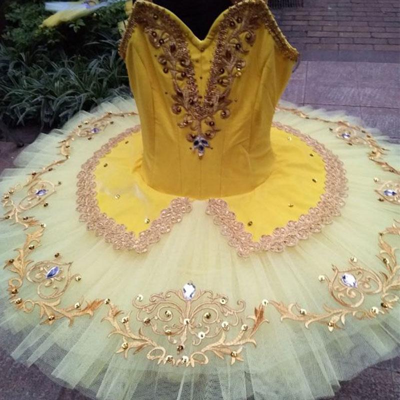 Customer size Made New Arrival Yellow Color Professional Ballet Dance Tutu Women & Girl Ballerina Dance Costumes Tutu