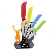 6pcs Set New Arrival Ceramic Knife Set 3 4 5 6 Inch + Peeler + Knife Holder Top Quality Kitchen Knives Set