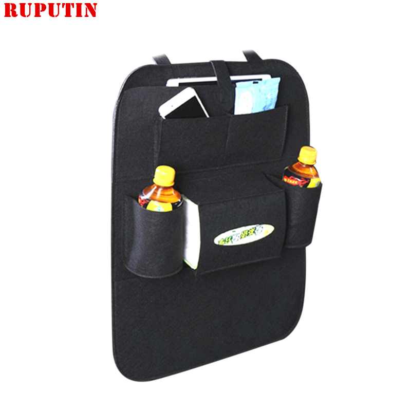 RUPUTIN Felt Covers Back Seat Pockets Car Seat Styling Automobile Seat Hanging Bag Multifunctional Seat Bag Storage Cosmetic Bag