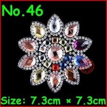 3 Pcs/Lot Hot New design rhinestone applique for garment,Flower hotfix heat transfer iron on motifs patches!