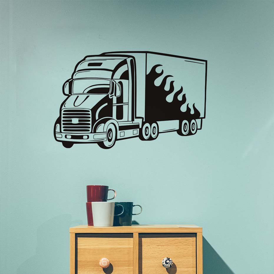 Stickers Pour Fenetre Chambre 2 horse box van voiture chambre fenêtre wall stickers decals