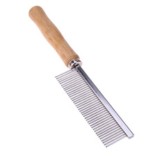 Stainless Steel Comb with Wooden Handle