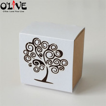50 Pcs Laser Cut Love Tree Candy Box Birdcage Drawer Birthday Party Gift Favors Packaging Cardboard Boxes Kraft Bonbonniere