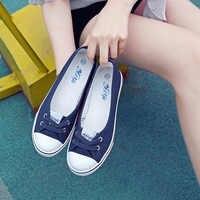 Autumn Spring Light Canvas Shoes Women Shoes slip-on Korean Tide Students Set Foot Pedal Flat Shoes