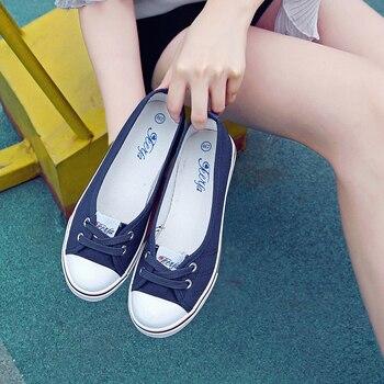 Otoño primavera luz zapatos de lona de las mujeres zapatos slip-on marea coreana estudiantes pie Pedal zapatos planos