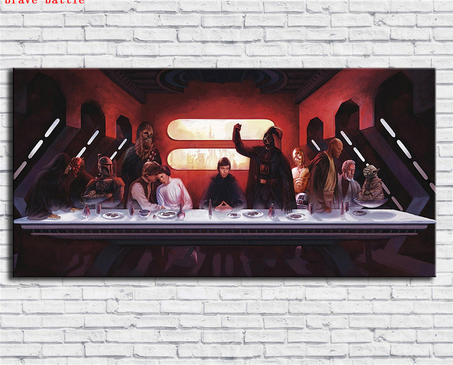 Star Wars The Last Supper Canvas Painting Print Living Room Home Decor Modern Wall Art Oil Painting Poster Painting Calligraphy Aliexpress