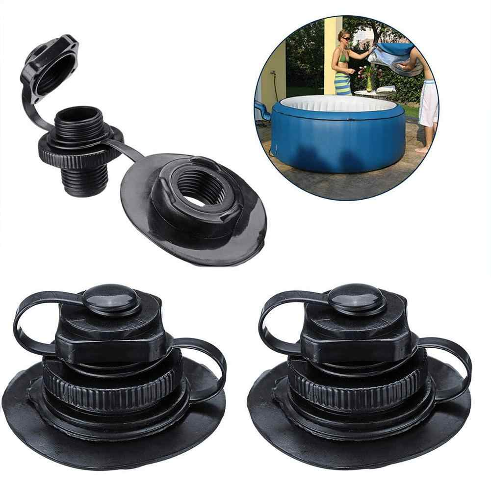 1 Pcs TPU Boston Nozzle Oktagonal Valve Perahu Karet Spa Inflatable Nozzle 2-In-1 Valve Screw Nozzle dengan Dasar PVC