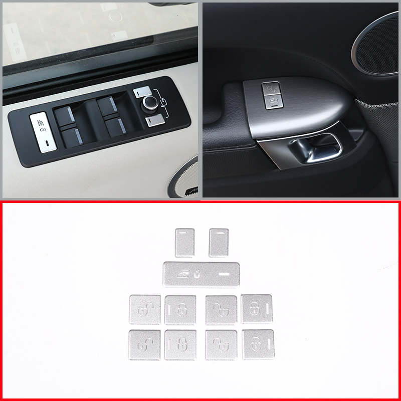 11 pcs For Land rover Range Rover Sport 2014 2017 Car Door Window Control Button Decoration