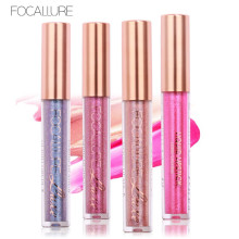 FOCALLURE 6 New Arrival Chameleon Shimmer Lip Gloss Waterproof Matte Lipstick Metal Style Golden Nude Red Lip Gloss