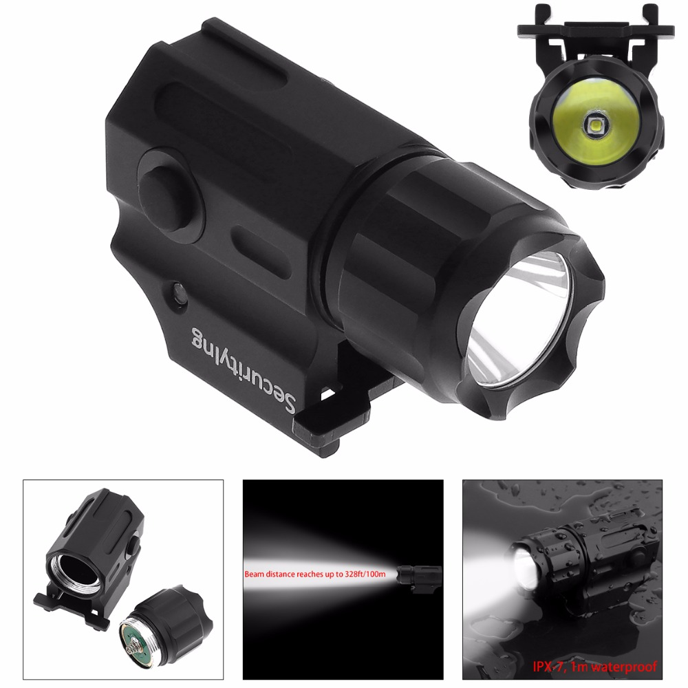 Securitylng Waterproof LED Flashlight G03 XP-G R5 LED 210LM Handheld Military Weapon Lights Pistol Torch Light Tactical Lamp