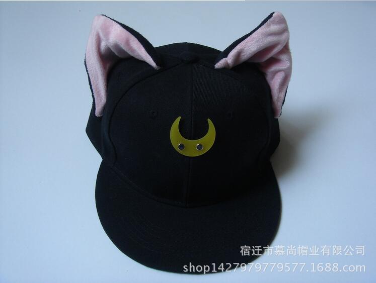 Prix pour Sailor Moon Cat Luna Cosplay hip - hop chapeau Anime japonais jolie gardien Baseball Cap avec plate - bord Costume