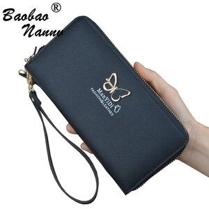 Bracelets femmes portefeuilles sac à main 2019 nouveau mignon papillon chaînes longues dames portefeuille porte-cartes téléphone sac sac à main pour filles femme(China)