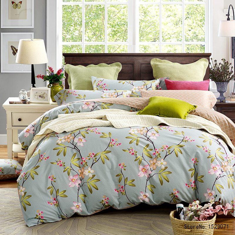 TUTUBIRD blue leaves floral Bedclothes bedding set bohemian boho Bed Linen Mysterious Queen king Size Duvet Cover Set For Girl