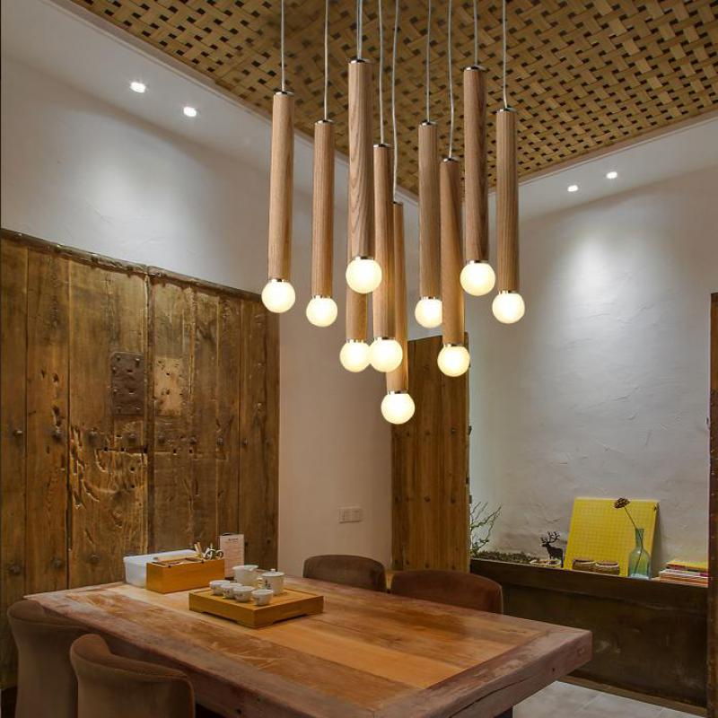 Wood Chandeliers For Dining Room: Wood Chandelier Modern Chinese Japanese Nordic Creative