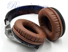 タンパク質ブラウン耳ヘッドフォン交換用pioneer hdj1000 hdj2000 hdj15000 hdj hdj 1000 2000ヘッドフォン