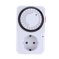 24 Hour Mechanical Electrical Plug Program Timer Power Switch Socket Energy Saver EU Plug White Color