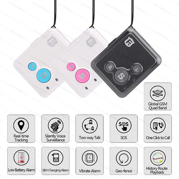 Mini GPS Tracker Children Kids RF-V16 Hand-free Talk 2G GSM GPS Locator 12 days Standby SOS Call Voice Monitor Free APP Tracker 2