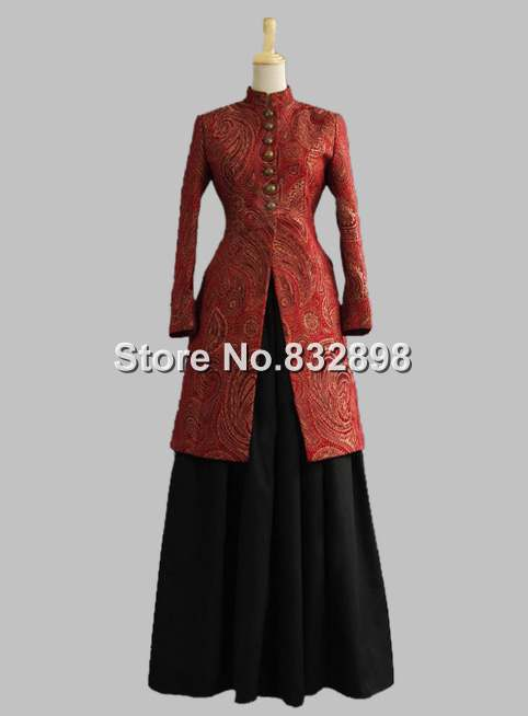 Викторианской Эпохи Короля Эдуарда Дамы Платье Таможенные Старый Запад Куртка Воссоздание Бальное платье Платье