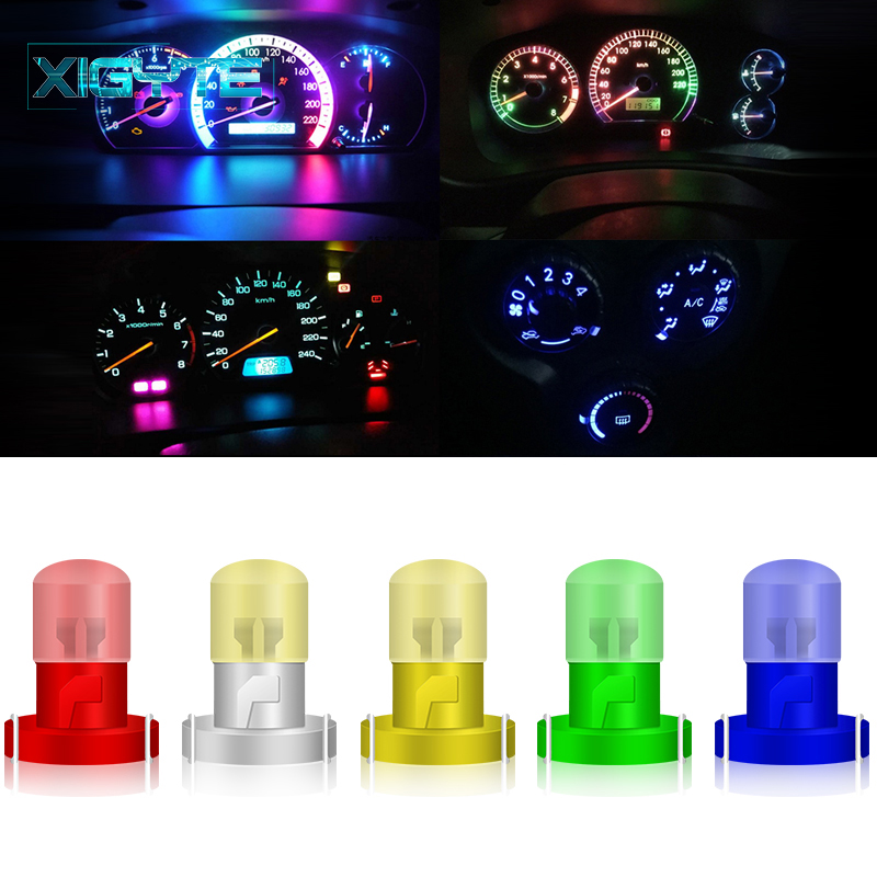 5PCS <font><b>T3</b></font> 1 SMD Neo Wedge Instrument Cluster Panel Dashboard Lamps DC <font><b>12V</b></font> Car Interior Dashboard Light Bulbs LED Auto Bulb Lights image