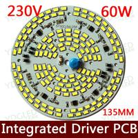 Dimmable led bulb lamp pcb chip SMD 2835 integrated Driver AC220V led ceiling downlight 5000 6500lm 60W LED Ceiling Lights