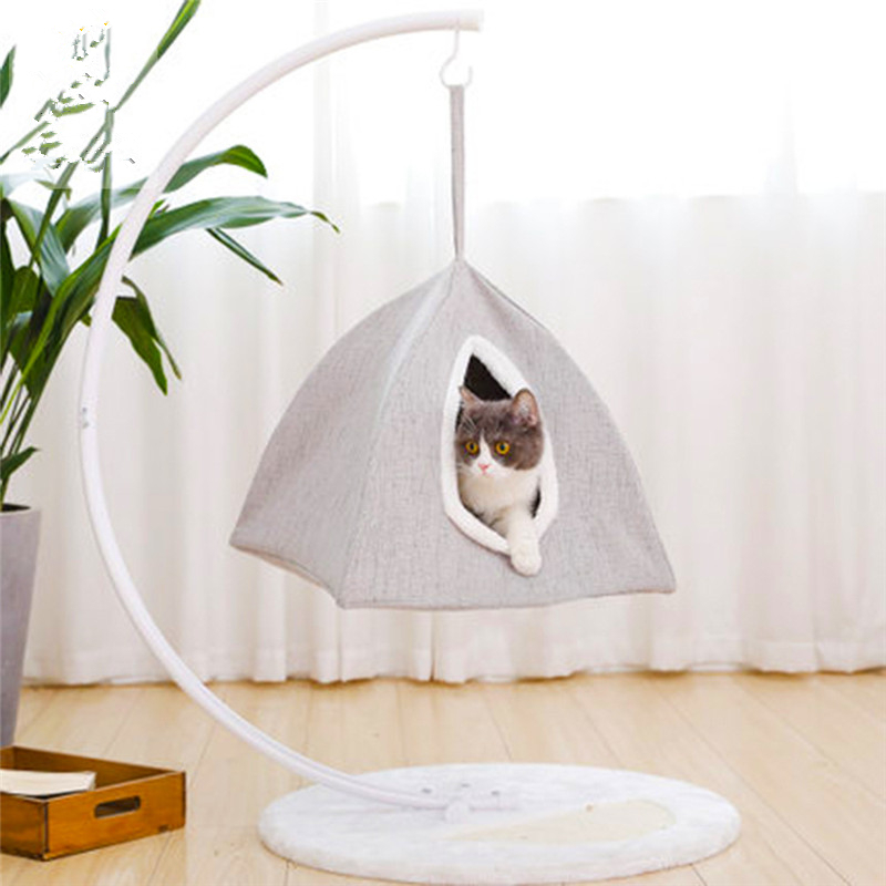 New style Cat Hammocks Beds Breathable Comfortable Hanging basket for Pet Puppy Soft Bed Cages Pet Rest Cushions House CW047