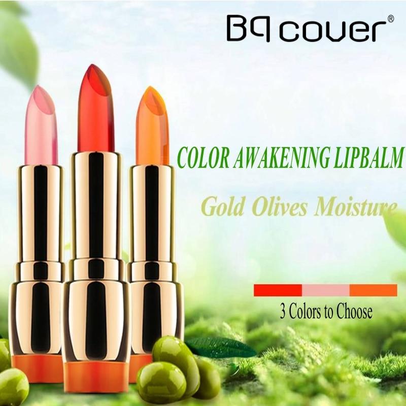 Bqcover Brand COLOR AWAKENING LIP BALM Gold Olive Color Temperature Change Repair LIP BALM Fresh  Radiat Nutritious Lipstick