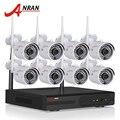 Kit de Sistema de CCTV 8CH NVR Inalámbrica Plug And Play P2P 720 P HD IR Cámara IP WIFI Al Aire Libre Cámara de Vigilancia de Seguridad Sistema de 2 TB HDD