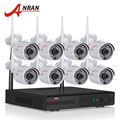 Plug And Play Sistema 8CH CCTV Kit NVR P2P 720 P Sem Fio HD IR Câmera IP WI-FI Ao Ar Livre Câmera de Segurança Sistema de Vigilância 2 TB HDD