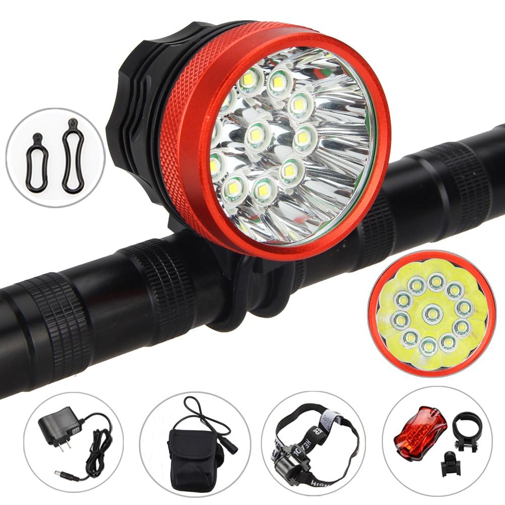 ФОТО Bright 28000LM 11x XML T6 LED Head front Bicycle Bike Light Torch Lamp+Headband+Tail Light