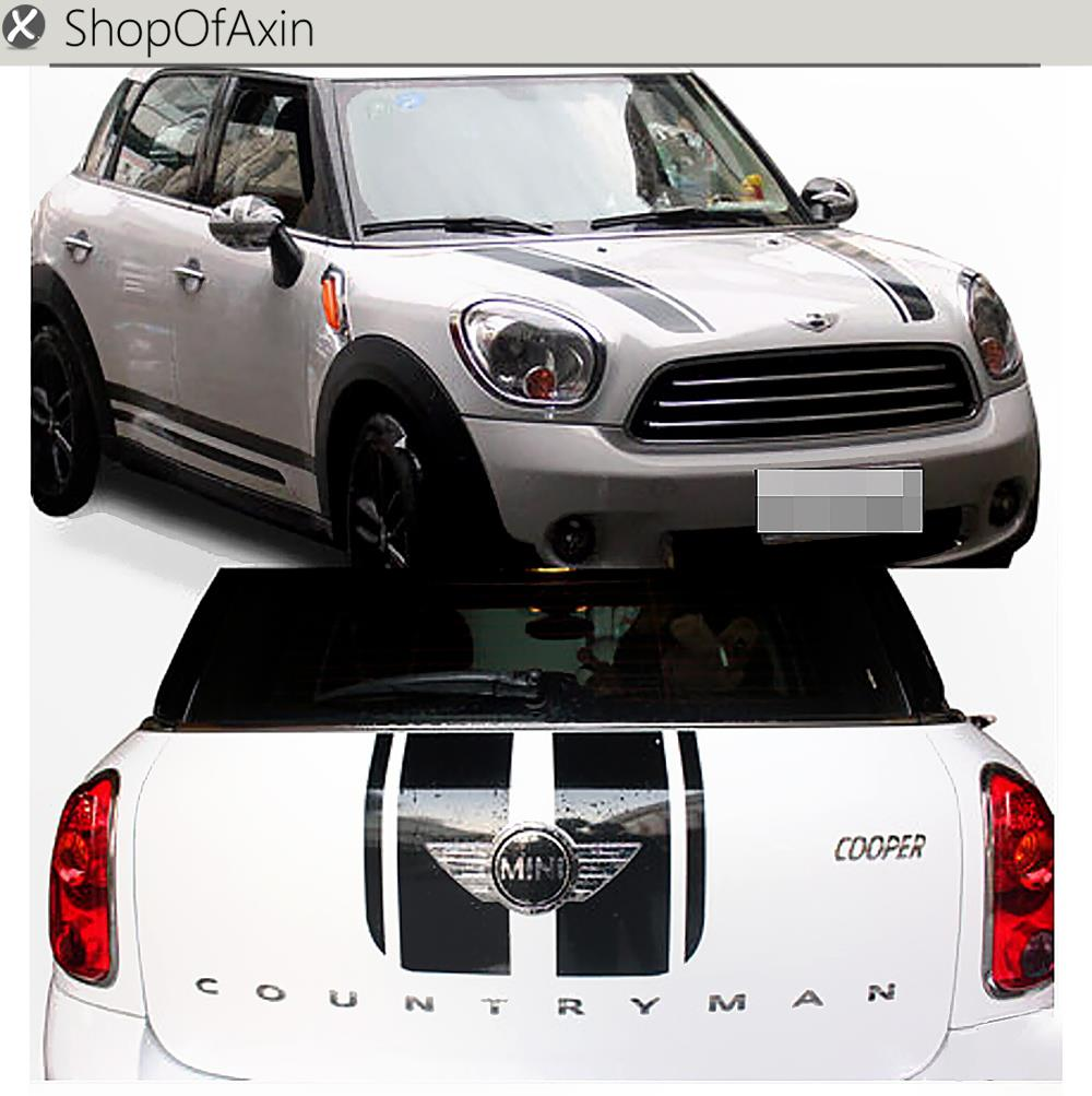 Sticker of Car Hood  Trunk  Luggage   Roker Panel  Door  parallel strips Decoration For Mini  Cooper R60 R61 Paceman Countryman hood trunk car sticker and decals lines customization for bmw mini cooper s hatchback r56 2007 2014 car styling accessories