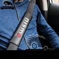 Автокресло плечевой ремень рукав Углеродного волокна Обложка Плеча Pad ремень безопасности, пригодный для nissan nismo juke qashqai tiida x-trail primera