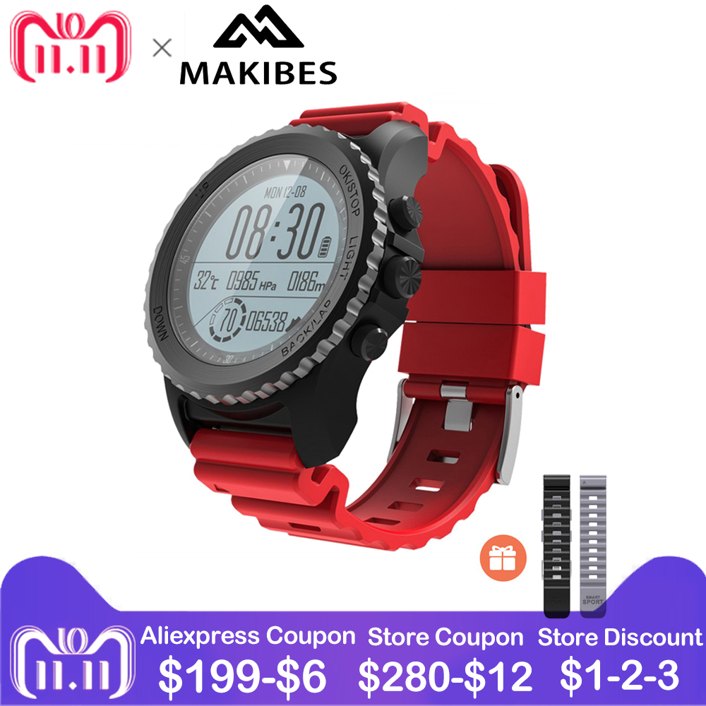 Makibes G07 GPS SmartWatch Sport Smart Watch Men Women Waterproof Snorkeling Multiple sports mode heart rate GPS Bluetooth Watch multiple smart watch sports modes bluetooth gps heart rate monitor two side straps sports business smartwatch