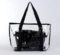 Commercio all'ingrosso 2017 moda Europea e Americana borsa gelatina sacchetto di cristallo sacchetto trasparente garza caramella borse da spiaggia grande borsa di stile