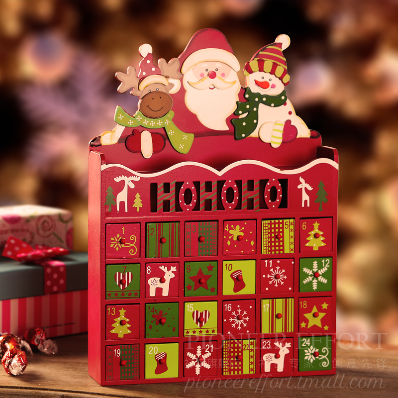Old Man Christmas Gifts: Christmas Old Man Snowman Elk Calendar Box The New Year
