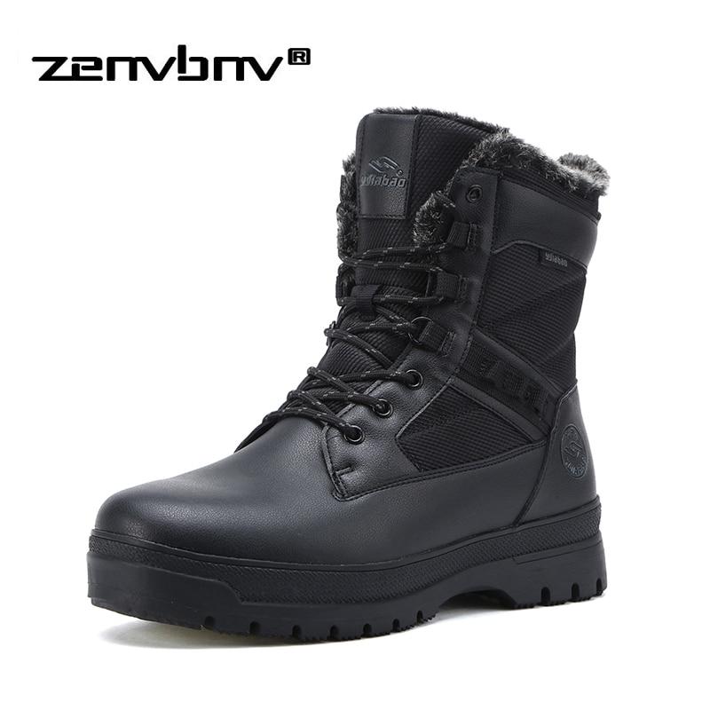 Gelernt Luxus Marke Winter Pelz Abendessen Warme Schnee Stiefel Für Männer Erwachsenen Männlichen Schuhe Nicht Slip Gummi Casual Arbeit Sicherheit Casual Stiefeletten