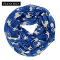 Moose infinity scarf Women print for Christmas kerchief  tippet gift elk hijab foulard femme shawls and scarves echarpe cachecol