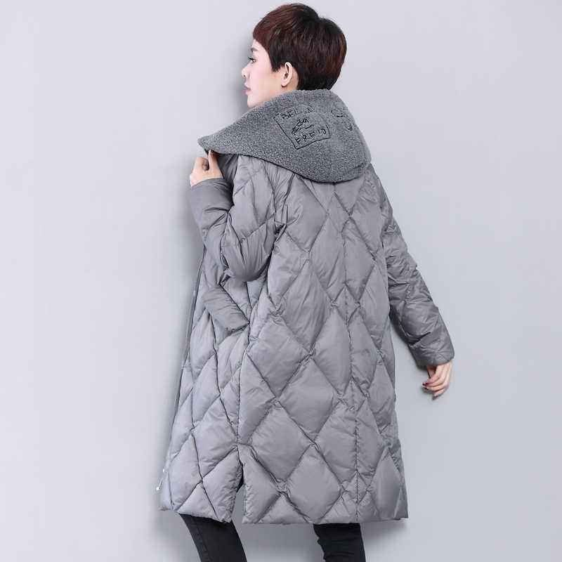 KMETRAM пуховик женский с капюшоном плотное длинное пальто женский зимний плюс размер свободные парки винтажная одежда Casaco Feminino MY623