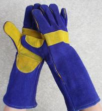 Long Style Thickness Welding gloves security protecting wear-resisting Heat insulation non-slip cowhide work gloves